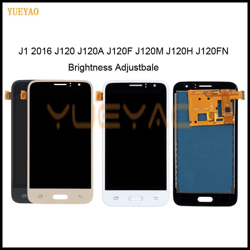 يمكن ضبط سطوع LCD لسامسونج غالاكسي J1 2016 J120 J120F J120H J120M LCD عرض تعمل باللمس محول الأرقام الجمعية