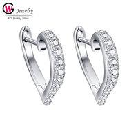 Brand Fashion CZ Drop Women Earrings Dangle Earring Ear Studs Female Jewelry 925 Silver Hoop Earrings Zircon Weddings Gift