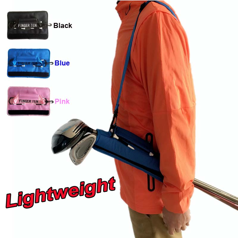 H9e696f5a09b2462bad6ad2eaccc564576 Lightweight Mini Golf Club Bag Driving Range Carrier Course Training Case Black Blue Pink for Men Women Kids