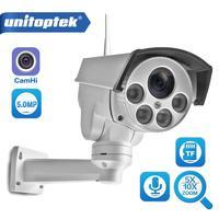 Wifi PTZ IP Camera 5MP Super HD 5X 10X Optical Zoom Audio Wireless PTZ Cam Bullet Outdoor 50m IR Video Home Security Camera P2P