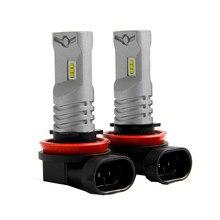 Противотуманный светильник s ходовой Светильник лампы H11 H8 1600LM светодиодный 6500K белый противотуманный светильник дневные ходовые лампочки 6500K DRL автомобильные аксессуары# Ger