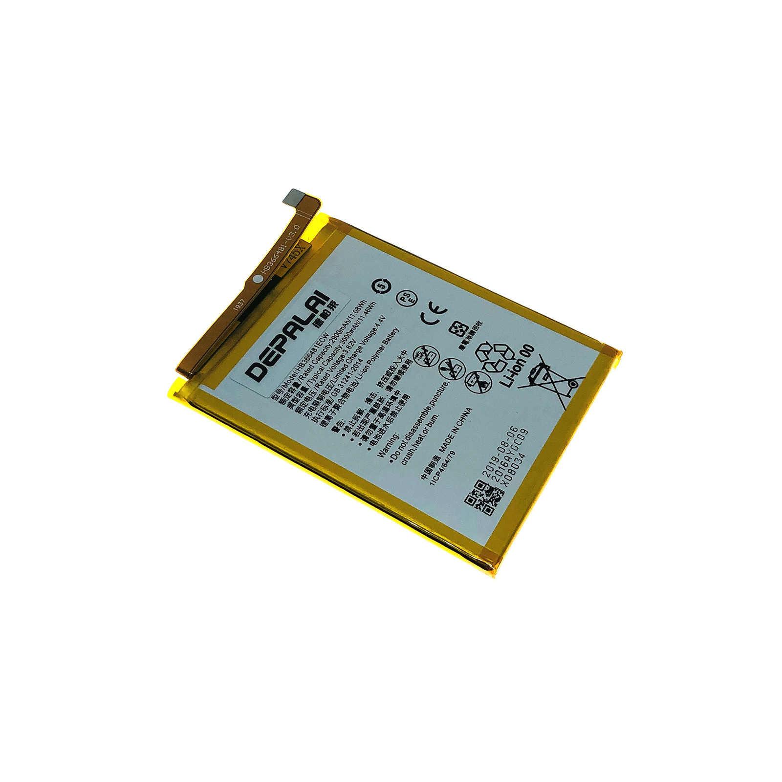 """Yüksek kalite gerçek 3000mAh HB366481ECW pil için Huawei P akıllı 5.6 """"FIG-LX1 FIG-LA1 FIG-LX2 FIG-LX3 yedek pil"""