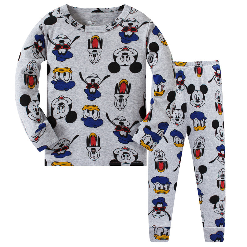 Children   Pajamas     Set   Kids Baby Girls Boys Christmas Mouse Pijamas Sleepwear Autumn Winter Menino Miki Long Sleeve Cotton Pyjamas