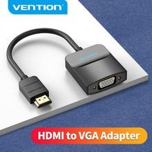 Vention HDMI vers VGA convertisseur 1080P numérique vers analogique pour ordinateur portable Xbox PS4 TV projecteur vidéo Audio câble VGA vers HDMI adaptateur