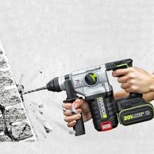 WORX martillo rotativo eléctrico de 3 funciones, Taladro Inalámbrico de impacto con batería de litio
