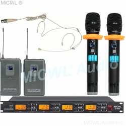 MiCWL Audio UHF Wireless Karaoke Mic Microphone System Handheld Skin Color Omnidirectional ear Hook Headset Lapel MiCWL G900