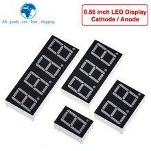Display a LED da 0.56 pollici 7 segmenti 1 Bit/2 Bit/3 Bit/4 Bit cifre tubo rosso comune catodo/anodo digitale 0.56 pollici led 7 segmenti