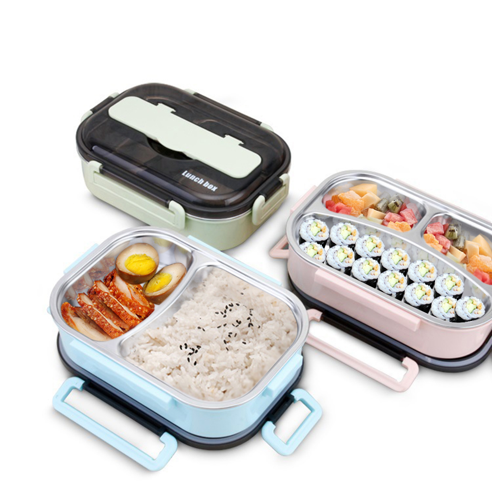304 Stainless Steel Lunch Box Portable Lunch Box For Kids Microwave Heating Food Containers For Picnic Office School Food Box in Lunch Boxes from Home Garden