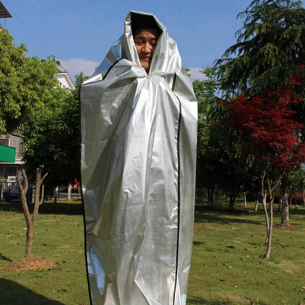 ขายโปรโมชั่นใหม่ผ้าห่มฉุกเฉินSurvivalกู้ภัยฉนวนกันความร้อนกลางแจ้งประหยัดชีวิตจัดส่งฟรี