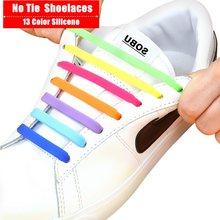Lacets élastiques en Silicone pour hommes et femmes, lacets de chaussures, spéciaux, sans nœuds, laçage en caoutchouc, 13 couleurs, 16 pouces