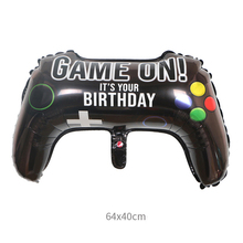 NEW Big Black Gamepad Boy Inflate Toy GAME ON Foil Balloon Happy Birthday Decoration Game Match Props Gaming Tool Ball