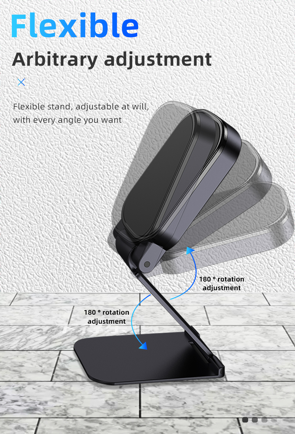!ACCEZZ Car Magnetic Holder Phone Stand For 11 X Center Console Folding Adjustable Magnet Support Desktop Bracket (9)
