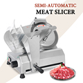 Cortadora de carne cortadora eléctrica 10 pulgadas cuchilla semiautomática carne congelada pan Ajuste Comercial espesor Cocina