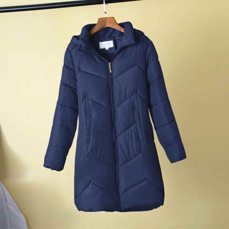 Plus Größe 5XL 6XL 7XL Frauen Winter Warme Mantel Weibliche Herbst Mit Kapuze Baumwolle Grundlegende Jacke Winter Oberbekleidung Schlanke Lange Damen chaqueta