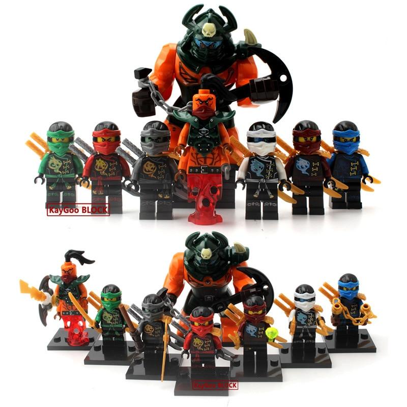 Single Ninja Figure Nya KAI Wu Krux Lloyd Wei Snake SamuraiX Vermin Kozu  Nadakhan Building Blocks Set Bricks Toys Legoing