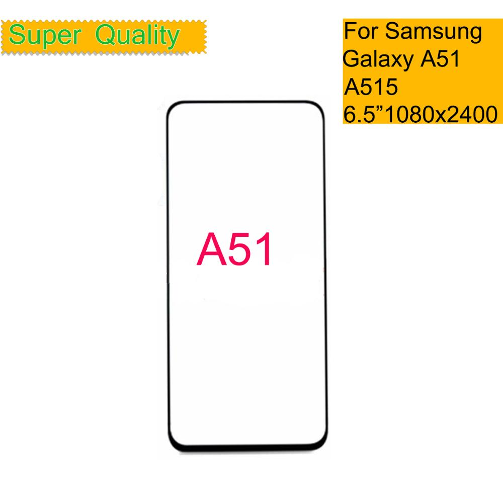10Pcs/lot For Samsung Galaxy A51 Touch Screen Front Glass Panel LCD Outer Display Lens A51 A515 SM-A515F/DSN Front Glass Replace