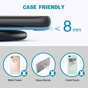 Image 4 - Wireless Charger 15W Qi Fast Wireless Charger Phone Charging Pad for Samsung S9 S10 10W for iPhone 11 Pro XS MAX XR Xiaomi Mi 9