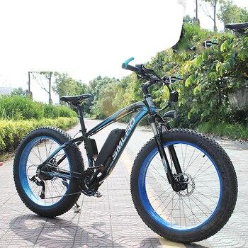 "Bicicleta de montaña eléctrica, ciclomotor con neumáticos de 26"", motor de 1000W, con velocidad máxima de 45 km/h, batería de 48V y 17,5Ah, con autonomía de 60 km, pantalla LCD e-bike"