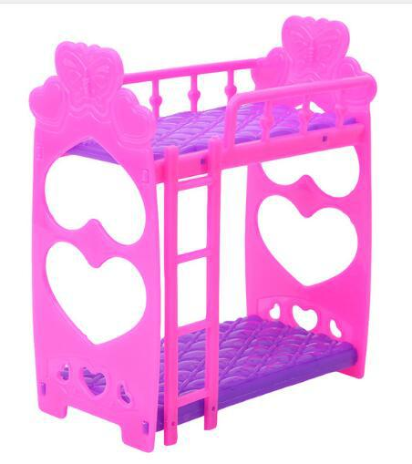 3.5-Inch 12 Centimeter Small Doll Bed, Kelly Bed Toy Accessories, Mini Bunk Bed 41G