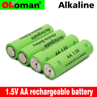 New Brand AA rechargeable battery 3000mah 1.5V New Alkaline Rechargeable batery for led light toy mp3 Free shipping