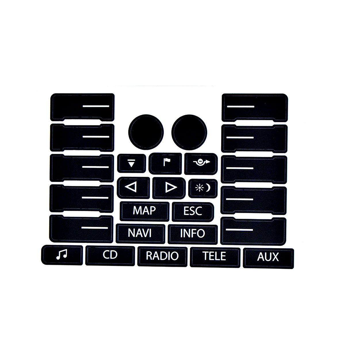 Image 3 - For VW For Volkswagen Touareg 04 09 Steering Wheel Windows Headlight Climate Switch Worn Button Auto Stickers Decals Replacement-in Car Stickers from Automobiles & Motorcycles