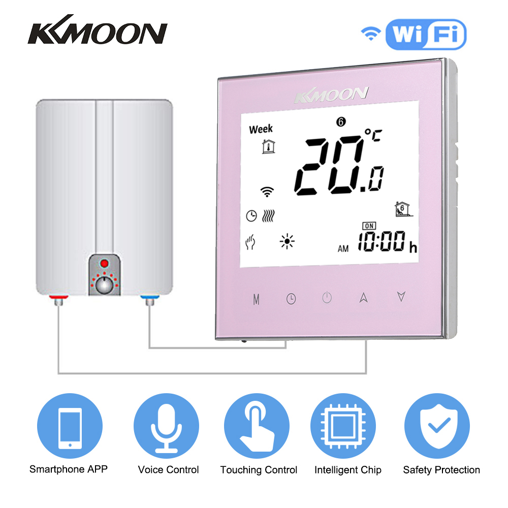 Digital Water/Gas Boiler Heating Thermostat With WiFi Connection & Voice Control Energy Saving With Google Home/IFTTT