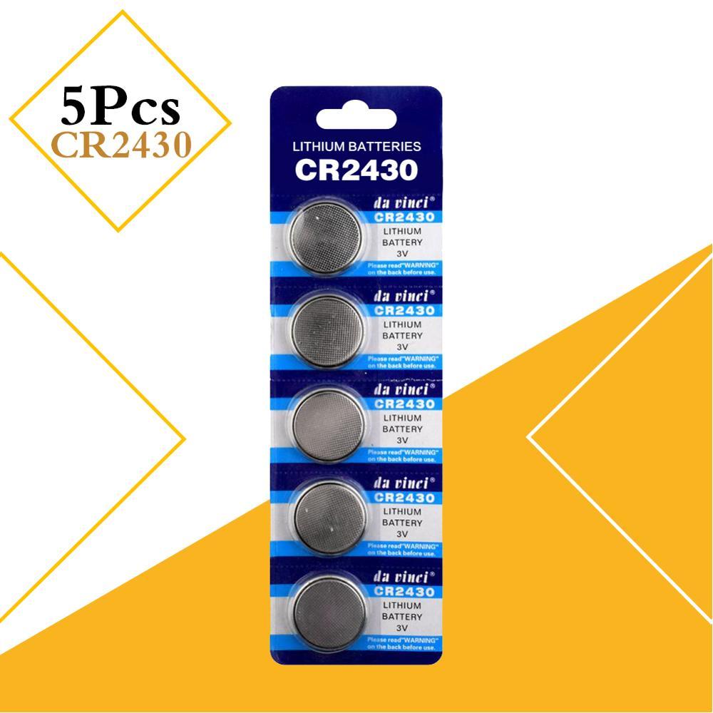 Кнопочная батарея CR2430 BR2430 DL2430 KL2430, литиевая батарея 3 в CR 2430 для часов, электронных игрушек, пультов дистанционного управления