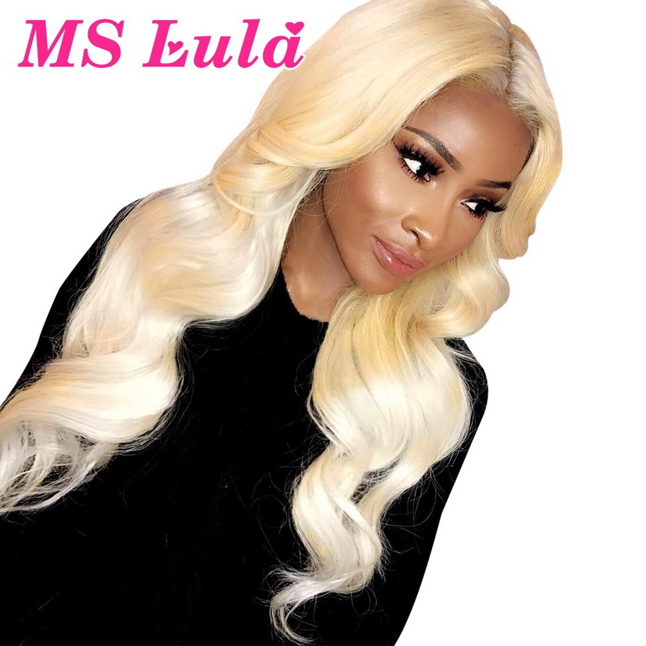 Ms Lula 613 Body Wave 28 30 Inch 13x6 Lace Front Wig Pre Plucked With Baby Hair Brazilian Human Remy Hair Blonde Lace Wigs