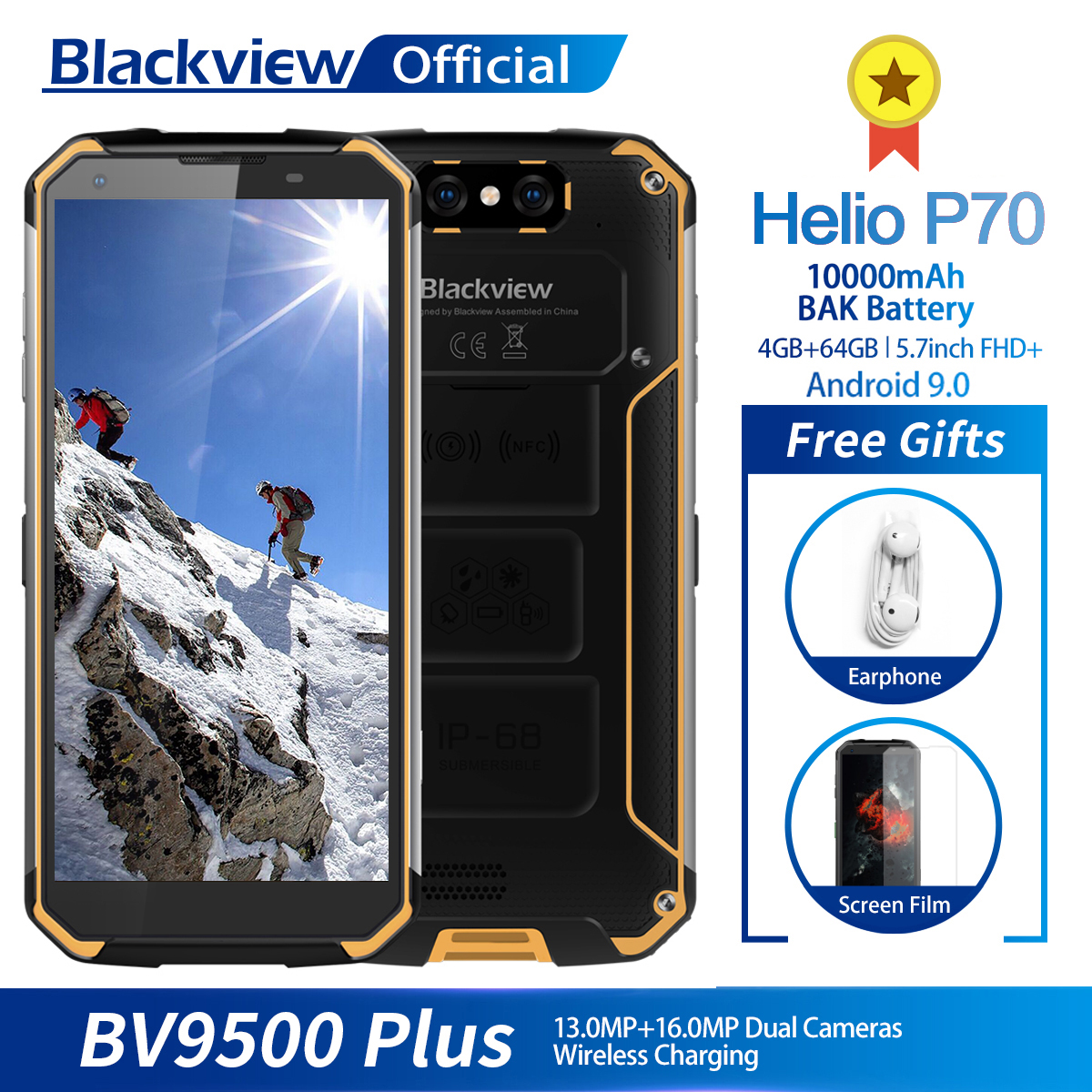 Blackview BV9500 4GB 64GB Plus Helio P70 Nfc Adaptive Fast Charge Wireless Charging Octa Core