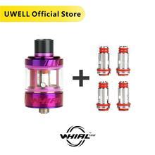 Uwell tanque de vape whirl, tanque de vape de 3.5ml e 4 peças, bobina de tanque de whirl, 0.6/1.8 ohm, cigarro eletrônico sub tanque do ohm