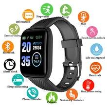 116 Plus Smart Watch Wristband D13 Blood Pressure Measurement Waterproof Fitness Tracker Bracelet Heart Rate Monitor Smart Band недорого