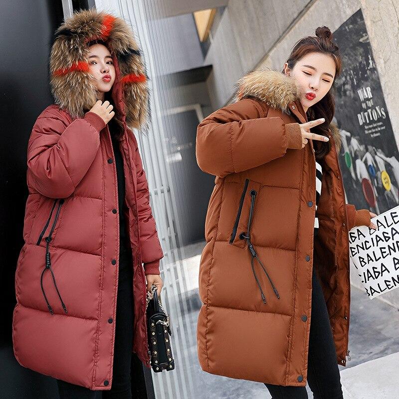Coat Jacket Hooded Winter Jacket Women   Parkas   2019 New Women's Jacket Fur Collar Outerwear Female Plus Size Coats