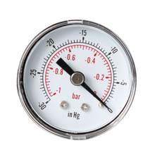 Вакуумный манометр для воздуха топлива или воды 40 мм 0/30 дюйма