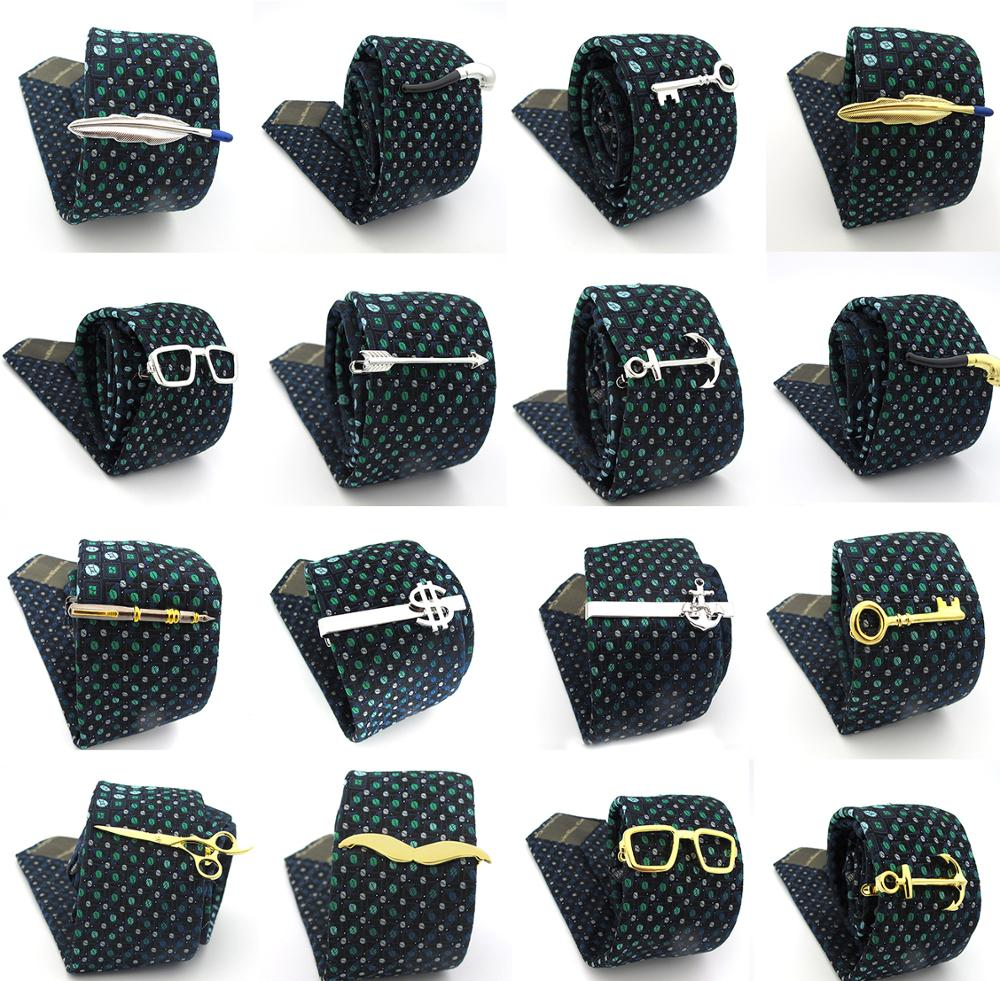 Free Shipping Men's Tie Clips 29 Designs Option Novel Superheroes Style Anchor Design Tie Pins Wholesale & Retail Arrow Clips