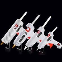 Diy pistola de cola de derretimento quente vara adesiva industrial elétrica armas de silicone thermo gluegun reparação ferramentas calor