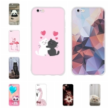 For Apple iPhone 5 5s SE Case Ultra-slim Soft TPU Silicone 6 6s Cover Cute Pattern Capa