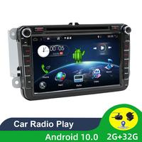 Two Din Car Multimedia Player Android 9.0 2G RAM Auto Radio For Skoda/Seat/Volkswagen/Passat b7/POLO/GOLF 5 6 DVD GPS PX6