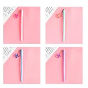 Image 5 - 32 יח\חבילה קריסטל כדור עט מיני כוכב משאלות תליון שחור צבע עט כתיבה חמוד מכתבים מתנת ציוד לבית ספר משרד A6791