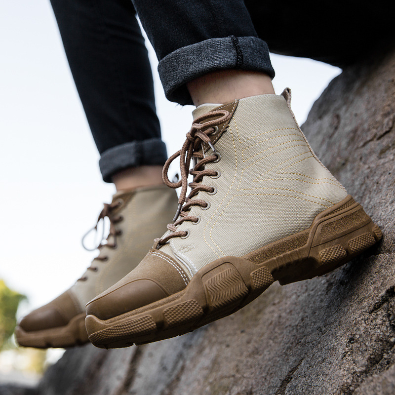 2019 autumn new British wind tooling boots retro Martin boots wild outdoor tide men's sports and leisure shoes