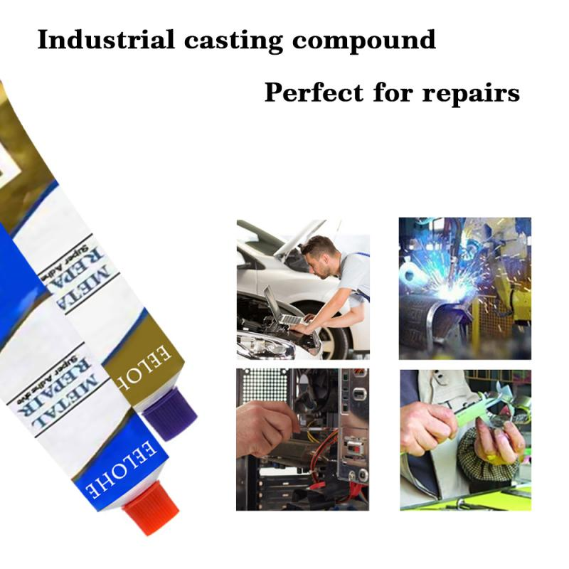 Industrial Repair Paste Glue Heat Resistance Cold Weld Metal Steel Glue Iron Repair Paste Radiator leakage Plugging Welding Glue