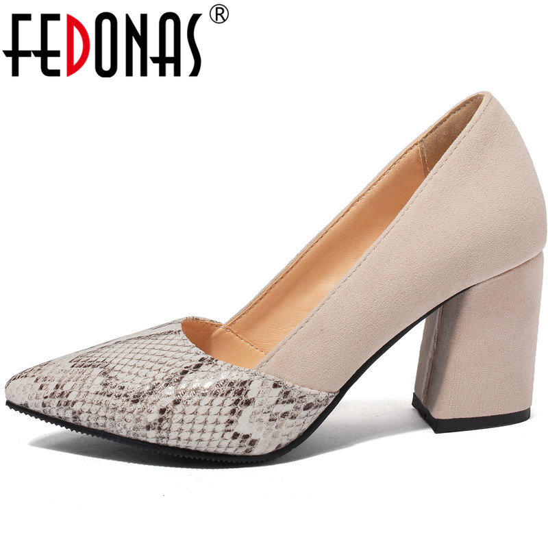 FEDONAS  Women Pumps Suede Leather Prom Shoes Party Pumps Spring Summer  High Heels New Arrival Fashion 2020 Shoes Woman