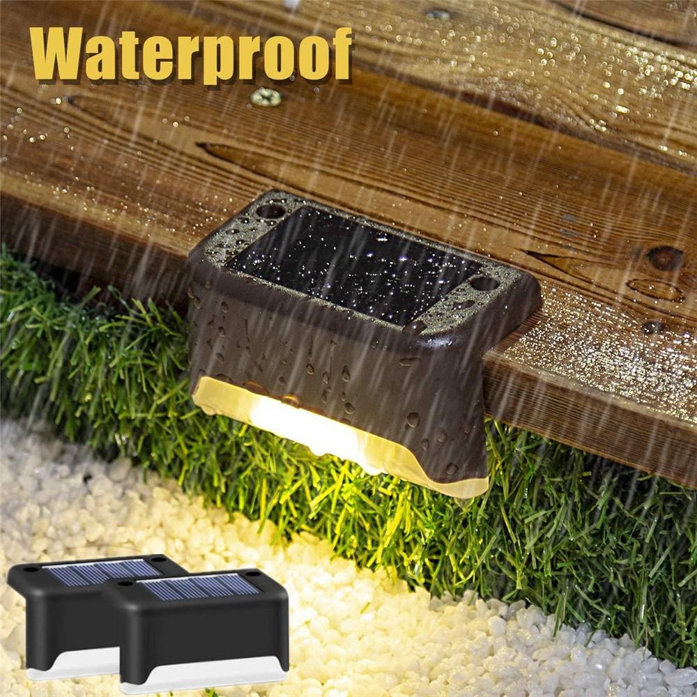 LED Solar Step Deck Lights Outdoor Waterproof Lighting Sensor Night Lamp for Garden Patio