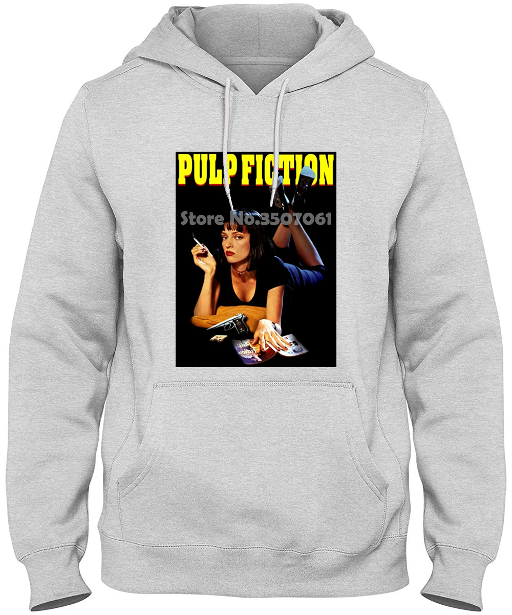 Pulp Fiction <font><b>Mia</b></font> Thick Thin long sleeve white <font><b>black</b></font> streetwear winter summer coat <font><b>tshirt</b></font> t shirt image