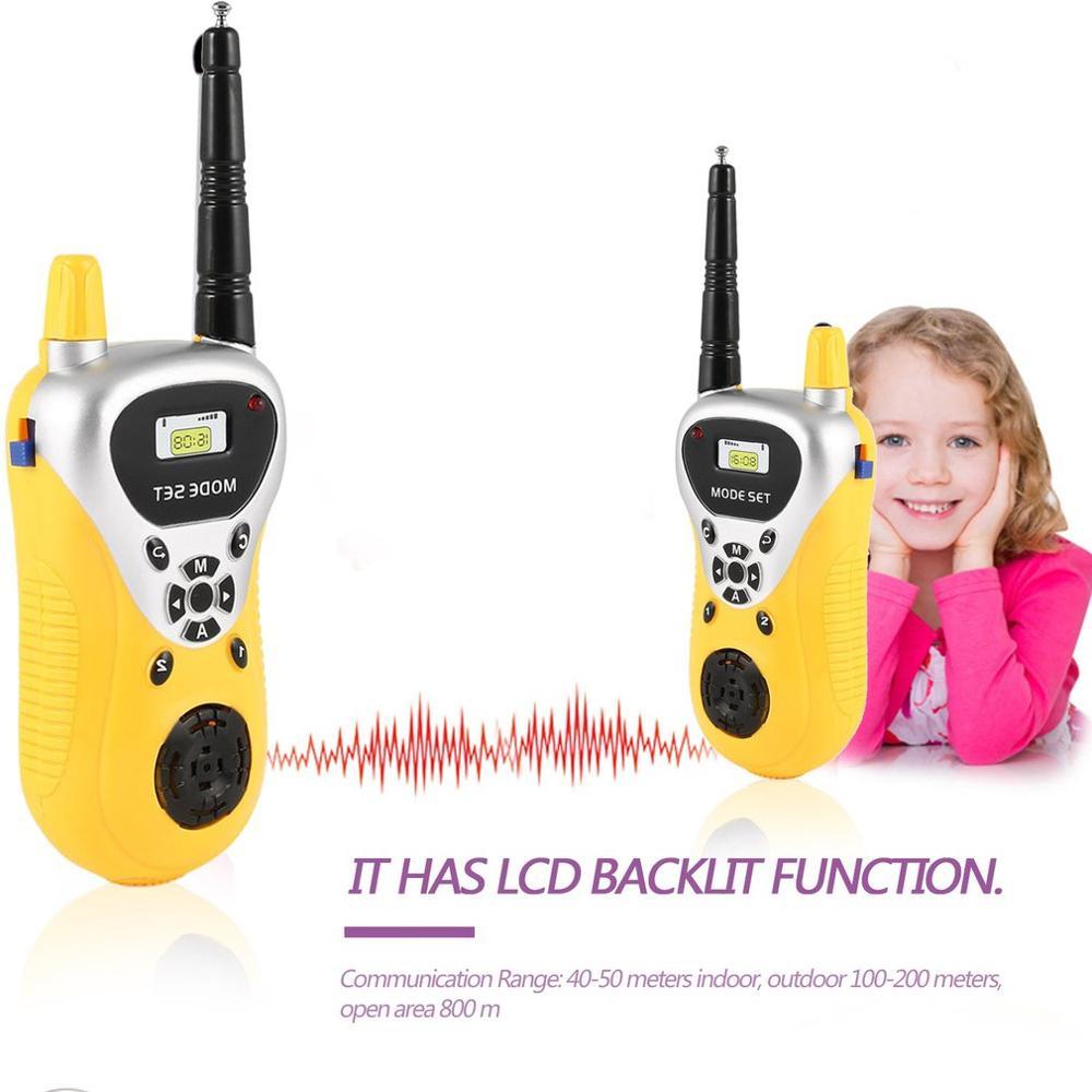 2 pcs Adorável Mini Walkie Talkie 409-410MHZ Crianças Brinquedo Handheld Portátil Two-Way Radio Interfone Profissional interativo presente da criança