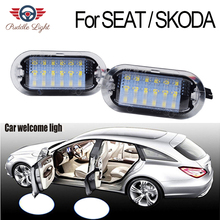 2Pcs LED Door Interior Footwell Light Led courtesy light CAR Styling For SKODA Octavia SEAT Alhambra Leon Toledo VW