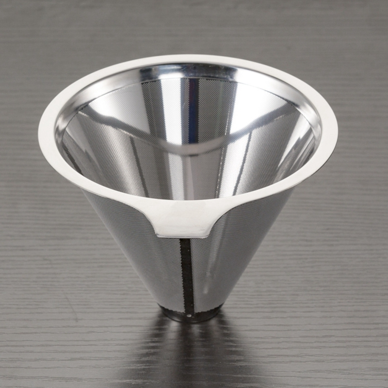 Stainless Steel Pour Over Coffee Filter Funnel Reusable Drip Coffee Filters Dripper Metal Mesh Basket Coffeeware Barista Tools