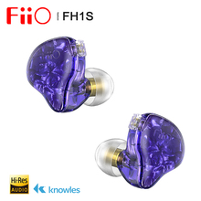 Наушники вкладыши FiiO FH1s Hi Res 1BA + 1DD(Knowles 33518,13, 6 мм Dynamic), IEM со съемным кабелем 2pin/0,78 мм для популярной музыки
