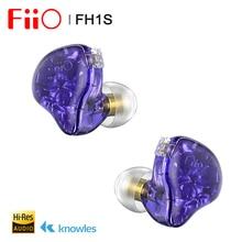 FiiO FH1s Hi Res 1BA + 1DD (knoples 33518,13.6mm dinámico) auricular intrauditivo IEM con Cable desmontable de 2 pines/0,78mm para Música Popular