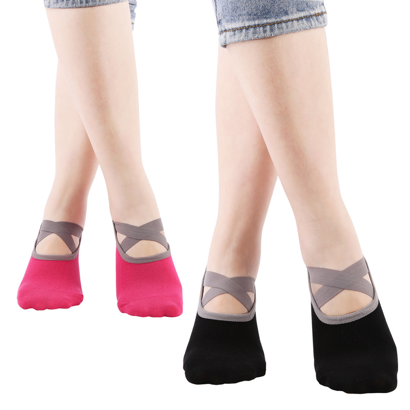 Womens Yoga Socks Low Cut Anti Slip Sticky Bottom Workout Pilates Grip Sock For Woman Dance Slippers Fitness Ballet Socken