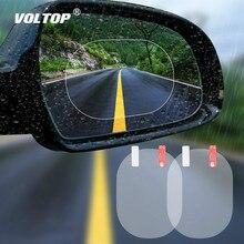 2 pièces/ensemble autocollant de voiture Anti brouillard voiture rétroviseur Film de protection voiture miroir fenêtre Film transparent Membrane étanche voiture décalque